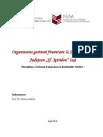 Organizarea Gestiuni Financiare La Spitalul Clinic Judetean Sfantul Spiridon Iasi