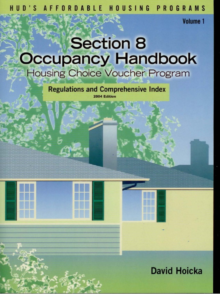 Section 8 Housing Choice Voucher Handbook and Index ...