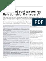 Comment sont payés les Relationship managers?