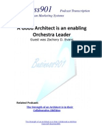 An Architect is an enabling Orchestra Leader