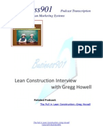 Lean Construction Interview With Greg Howell