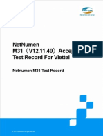 Viettel 3G Project_NetNumen M31(V12.11.40)Acceptance Test Record