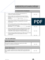 PCA Role and Occupation Certificate