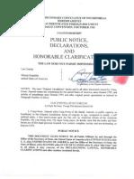 Diploatic Status Documents