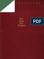 Julius Langbehn - Der Geist Des Ganzen