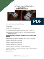 Greyhound Footie Snood Knitting Pattern
