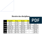 Horário das disciplinas (Galileu)