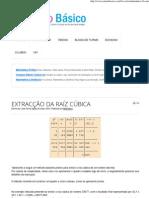 Matemática 9 EXTRAIR RAIZ CUBICA