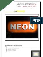 Adobe Photoshop Cs Filtres réaliser Un Effet néon Formation Procédure Pas à Pas Truc Astuce Fiche Dreamlive