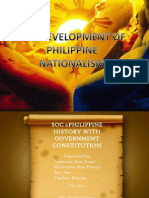 Lesson Vi the Development of Philippine Nationalism