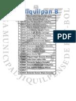Lista Oficial 2012-2013 Segunda