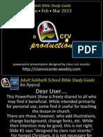2013 1st Quarter Lesson 8 Powerpoint Show