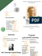 Programa Julia Burgos 2013