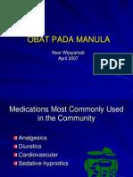Obat Pada Manula