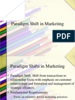 Paradigm Shift in Marketing