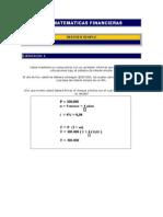 28060404 Ejercicios de Matematicas Financieras Interes Simple Interes Compuesto