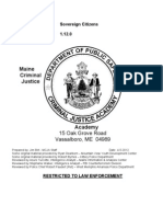 Sovereign Citizen from Maine's Criminal Justice Academy