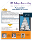 NIST College Counseling Newsletter for Year 12 Students February 21, 2013