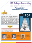 NIST College Counseling Newsletter for Year 13 Students February 21, 2013
