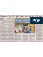 Investment Options for Local Telcos