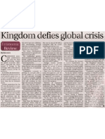 Kingdom Defies Global Crisis