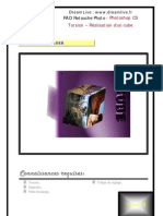 Adobe Photoshop Cs La Torsion réalisation d'Un Cube à Partir de Photos Formation Procédure Pas à Pas Truc Astuce Fiche Dreamlive