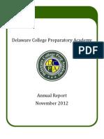 Delaware College Prep Charter 2012 annual report