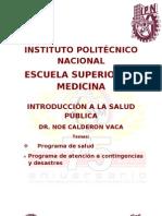 Programa de salud. Prod Atención contingencias y desastres