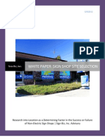 White Paper Sign Shop Location Requirements