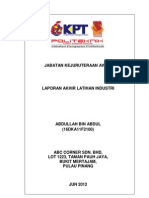 Kumpulan Contoh Laporan Latihan Industri Tnb Download Contoh Skripsi Oee