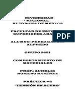 Comportamiento de Materiales Práctica # 1