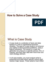 How to Solve a Case Study