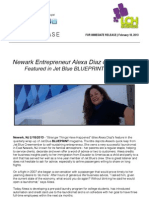 Newark Entrepreneur Alexa Diaz of NB Laundry Featured in Jet Blue BLUEPRINT Magazine!