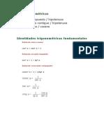 Leyes trigonométricas