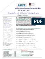 The 8th International Forum on Strategic Technology 2013