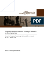 Economic Impact of Eurozone Sovereign Debt Crisis on Developing Asia
