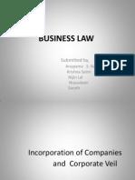 Incorprtn of Company