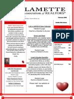Feb Newsletter 2009