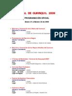 Programa Oficial Del Carnaval de Guayaquil 2009