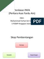Penilaian PAFA