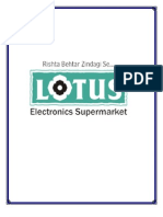 Research Project on Consumer Behaviour towards Electronic Durables(LOTUS)