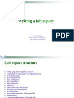 Guidelines on Writing Lab Report