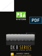 DX B Ironless Linear Motor - PBASystems