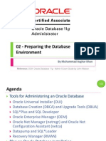 OCA 02 - Preparing the Database Environment