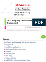 OCA 05 - Configuring the Oracle Network Environment