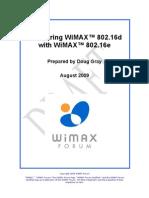 Comparing WiMAX 802.16d and 802.16e v1.0