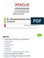 OCA 06 - Managing Database Storage Structures