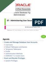 OCA 07 - Administering User Security