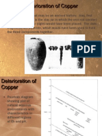 Deterioration of Copper