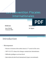 Convention Fiscales Internationales